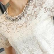 夏装新款韩版蕾丝雪纺衫图片