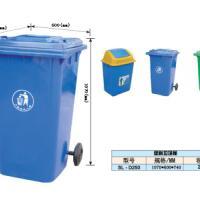 供应240升挂车塑料垃圾桶,环卫垃圾桶价格