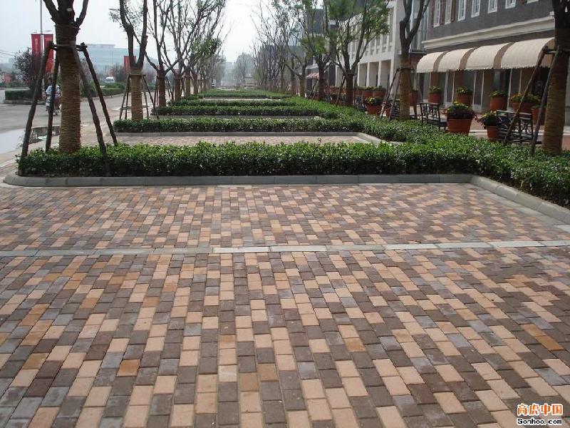 舒布洛克砖 供应增城人行道彩砖 惠州人行道彩砖 高清图片