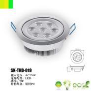 7W大功率LED天花灯图片