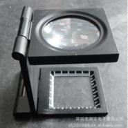 供应折叠放大镜 10倍光学放大镜 珠宝金属放大镜 C型黑色放大镜