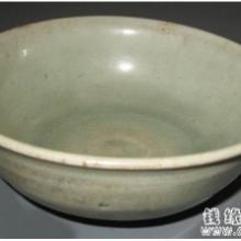 供应代青釉印花花卉纹碗