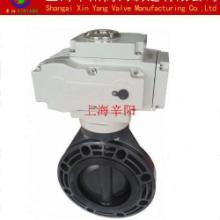 供应D971S-16 电动对夹式PVC蝶阀 开关型 调节型 智能型图片