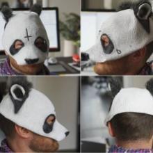 供应熊猫头/乳胶面具/乳胶头套面具