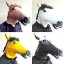 供应马头面具批发/各种颜色马毛图片