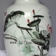 荷花将军瓶陈俊荣大师作品图片