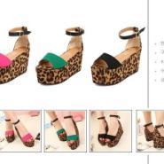 防水台凉鞋高跟鞋松糕厚底罗马女鞋图片