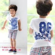 厂家直批夏装小中男童2件套装图片