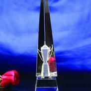 广州水晶奖座定制运动比赛奖杯图片