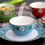 陶瓷咖啡杯加盟哑光陶瓷餐具代理图片
