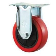3寸中型铁芯红PU脚轮图片