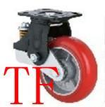 供应平面轴承铁心PU减震轮,专业生产减震轮厂家,减震万向轮,刹车脚轮