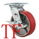 供应重型铁心PU轮聚氨脂轮厚装铁心PU轮,铁心PU轮定向万向边刹全刹