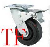 重型双轴高温尼龙轮PU轮橡胶轮图片