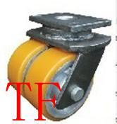 供应超重型铁心聚氨脂PU双轮,国内最大的脚轮厂家就在中山亚鑫嘉镒脚轮