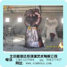 供应玻璃钢仿铜雕塑人物