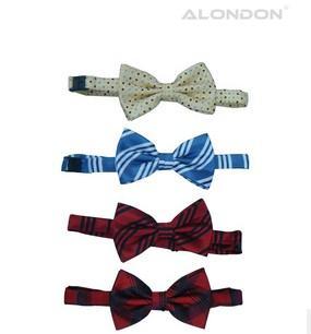 供应条纹领结提花领结