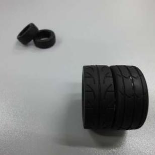 高弹力橡胶轮胎/耐磨轮胎/车轮图片