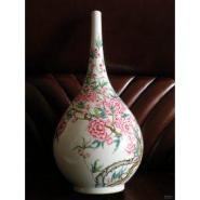 大清雍正粉彩长颈瓶瓷器拍卖图片