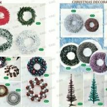 供应圣诞藤条花环 圣诞花环