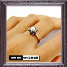 供应批发珍珠小花简约爆款求爱戒指