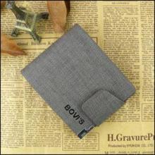 2013短款格子纹休闲钱包,男士女士牛皮钱夹时尚真皮钱包8020-1