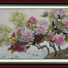 供应洛阳牡丹画-六尺横幅-喜迎天香图