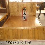 供应榆木雕花双人床,实木床,中式家具,实木家具