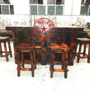 老船木吧台桌椅套件图片