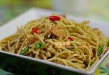 供应怎么做炒粉桂花虾米炒粉丝-食为天