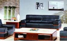 供应合肥宾客接待沙发 办公皮质办公沙发 现代真皮沙发配茶几批发