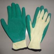 精品黄纱绿防护劳保手套图片