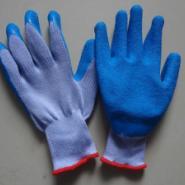 精品灰纱蓝胶防护手套图片