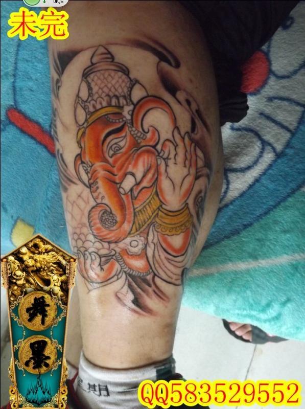 本店象财神纹身作品; 城阳纹身青岛城阳舞墨堂专业纹身;  本店象财神图片