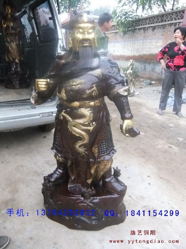 横刀关公大型铜雕工艺品制作原图