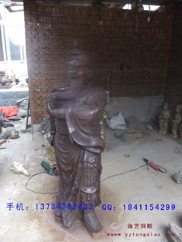 横刀关公大型铜雕工艺品制作样板
