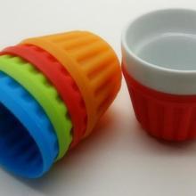 供应小直纹硅胶杯套,陶瓷杯套,隔热杯套
