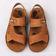 新款真皮沙滩鞋男鞋凉拖真皮凉鞋图片