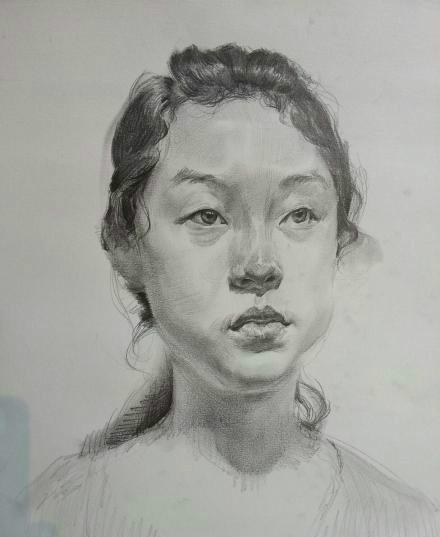 高考素描头像画法步骤
