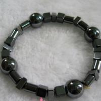 流行饰品黑胆石异型串珠手链广州批发零售