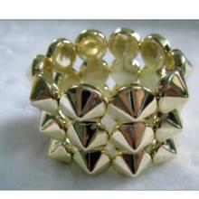 时尚圆锥型个性珠电镀手链时尚配饰广州高尔登公司批发