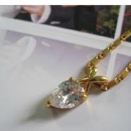 流行饰品镀金镶嵌锆石项链图片