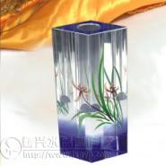 水晶花瓶办公室家庭摆件图片