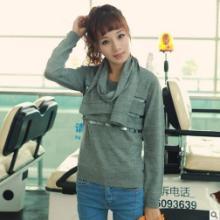 2013韩版修身毛衣纯色圆领亮片打底衫针织衫女带围巾