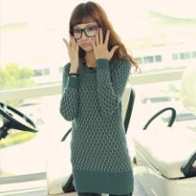 2013毛衣女韩版外套圆领修身 春秋新款套头中长款打底毛衣