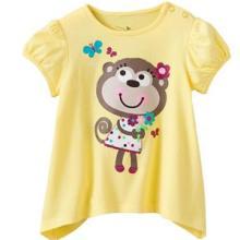 供应外贸卡通纯棉印花小猴童t恤