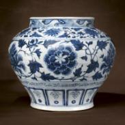 青花一束莲瓷器国内权威交易安徽图片