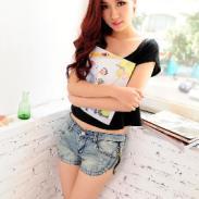 2013夏季新款复古女装牛仔裤短裤图片