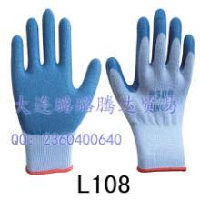 供应星宇300天然乳胶皱纹、 止滑耐酸碱抗腐蚀防渗透劳保手套图片