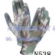 十三针印花尼龙丁腈手套图片